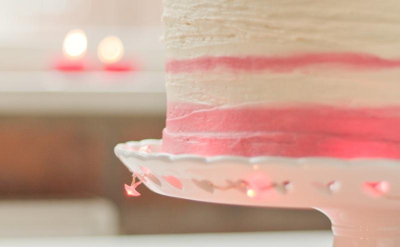 4 layer Valentines Cake